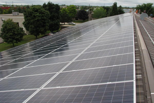 Solar Panels on building roof