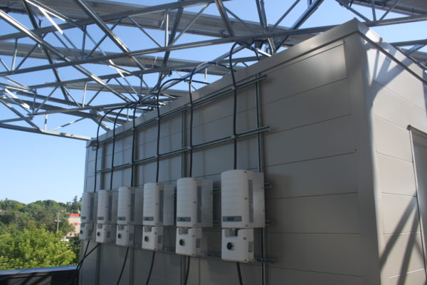 Solar Inverters on building