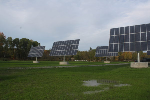 Solar panels tracking the sun