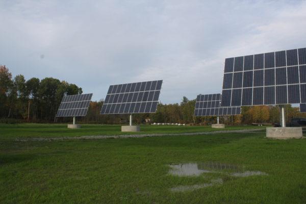 Solar panels tracking the sun