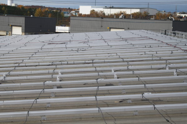 Racking for roof top solar system