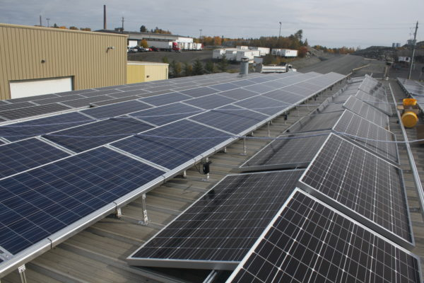 Solar panels on roof-top