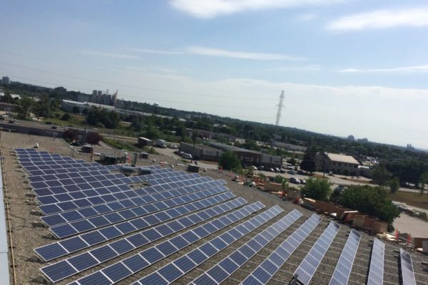 Rooftop solar panels in Guelph