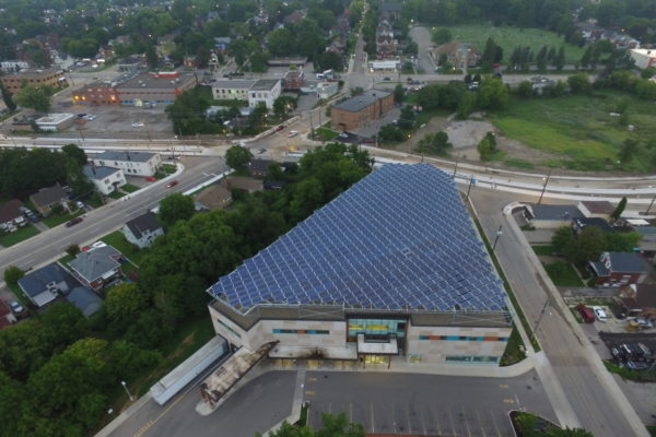 Solar Roof from above