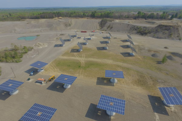 Solar panels in gravel pit Sudbury