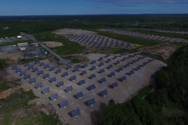 Solar trackers in Blind River